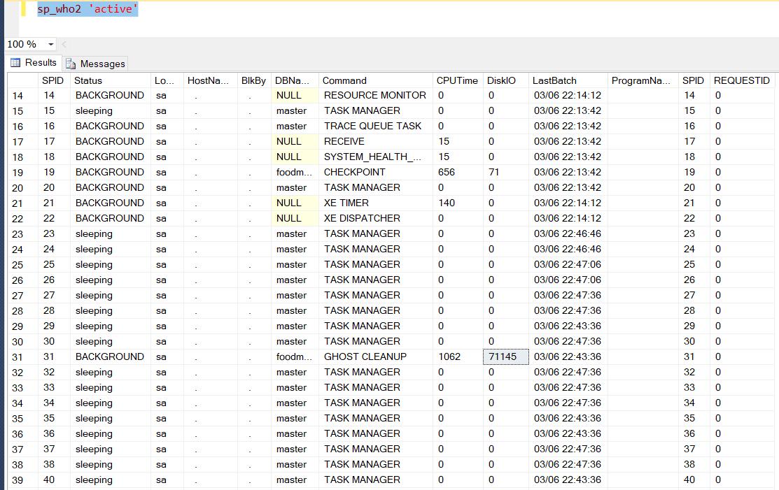 MS SQL TSQL Текущие запросы
